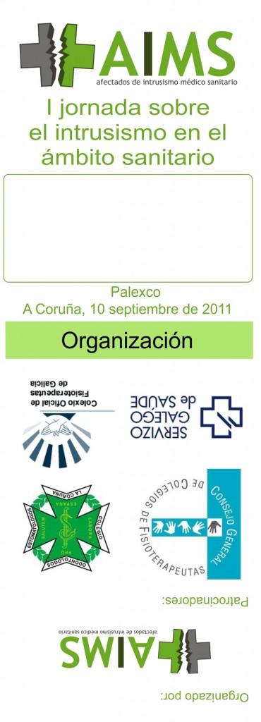 Diseño de las acreditaciones para la I jornada de la AIMS